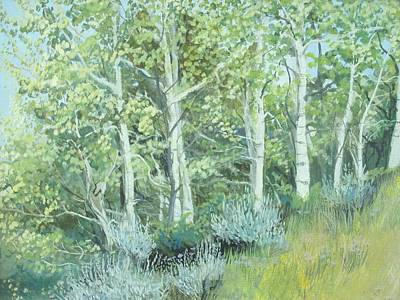 Painting - Aspens Of Medicine Bow by Terri Ana Stokes