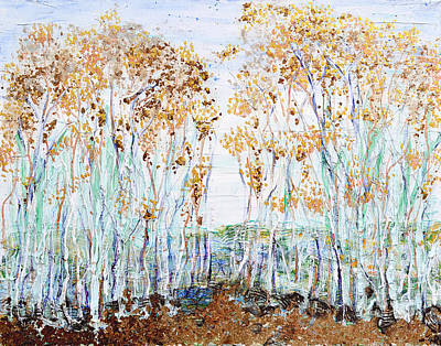 Painting - Aspens by Regina Valluzzi