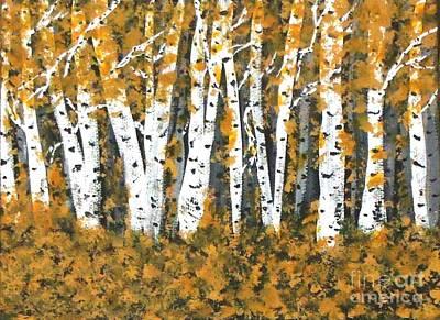 Aspens Trees Bright In Fall Art Print