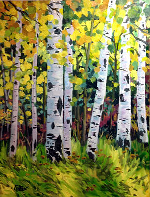 Painting - Aspens  by W  Scott Fenton