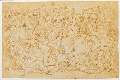 Aspertini Amico, Trajans Battle, 1496 Art Print