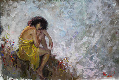 Figures Painting - Aspettando by Ylli Haruni