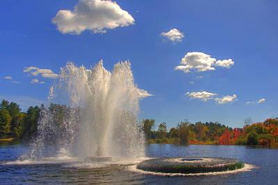 Autumn Farm Scenes Photograph - Aspetuck Reservoir by Joann Vitali