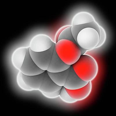 Aspirin Drug Molecule Art Print
