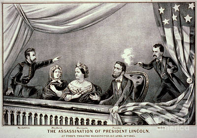 Politicians Drawings - Assassination of Abraham Lincoln by Celestial Images