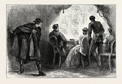 President Lincoln Drawing - Assassination Of President Lincoln, United States Of America by American School