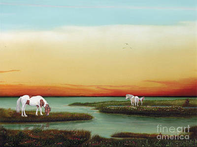 Painting - Assateague Island Sunset by Albert Puskaric
