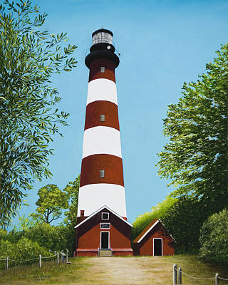Painting - Assateague Lighthouse by Mary Ann King