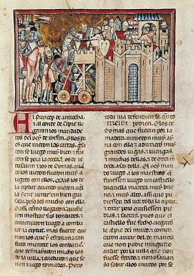 Assault On A Castle. Illustration Art Print
