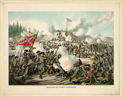 Assault On Fort Sanders Art Print