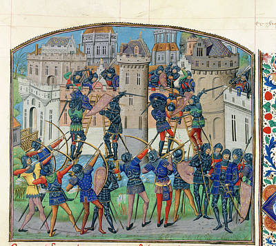 Assault On Ribodane Art Print by British Library