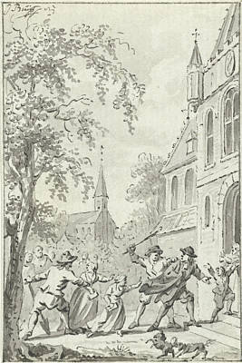 Reform Drawing - Assaulting Reformed Near Vaals The Netherlands by Quint Lox