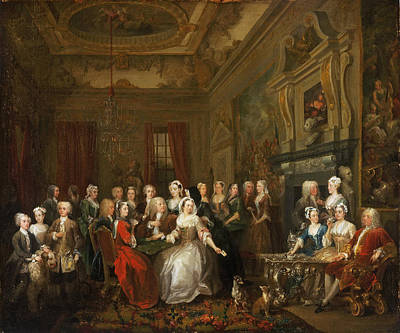 Hogarth Painting - Assembly At Wanstead House by William Hogarth