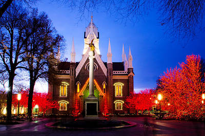 Assembly Hall Photograph - Assembly Hall Slc Temple by La Rae  Roberts