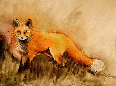Pelts Painting - Assessing The Situation Antiqued by Beverley Harper Tinsley