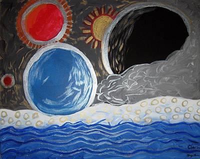 Painting - Assira's Galaxy by Clarissa Burton