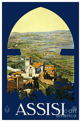 Assisi - Travel Poster For Enit - 1920 Art Print
