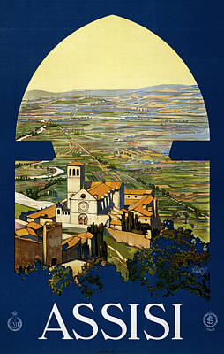 Religious Drawings Digital Art - Assisi Italy by Georgia Fowler
