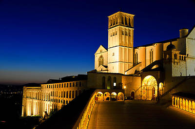 St. Francis Of Assisi Photograph - Assisi Nightfall by Jon Berghoff