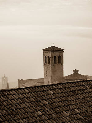 Assisi Rooftop In Morning Art Print by Rande Cady