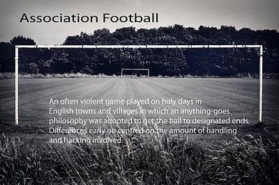Photograph - Association Football by Christopher Rees