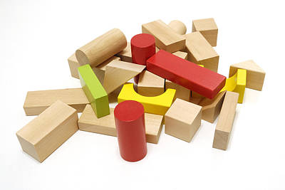 Photograph - Assorted Building Blocks by Charles Beeler