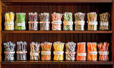 Candy Jar Photograph - Assorted Candies In Jars, Fort Steele by Panoramic Images