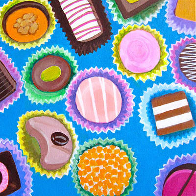 Assorted Chocolates Original by Toni Silber-Delerive