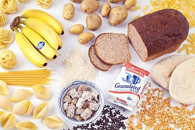 Assorted Foods Containing Carbohydrates Art Print
