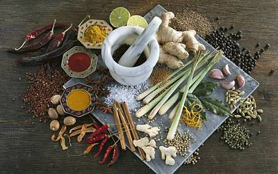 Assorted Spices Art Print by Science Photo Library