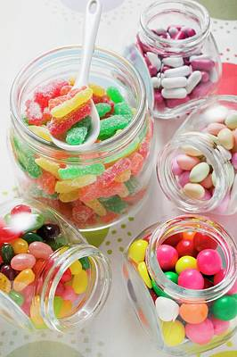 Assorted Sweets In Storage Jars Art Print