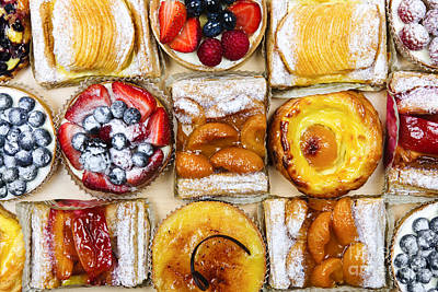 Bakery Photograph - Assorted Tarts And Pastries by Elena Elisseeva