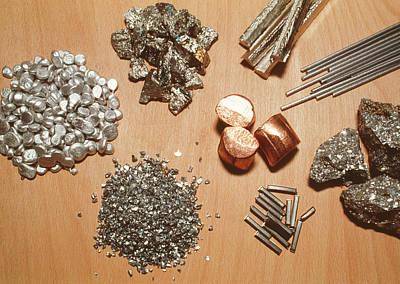 Assorted Transition Metals Art Print by Klaus Guldbrandsen/science Photo Library