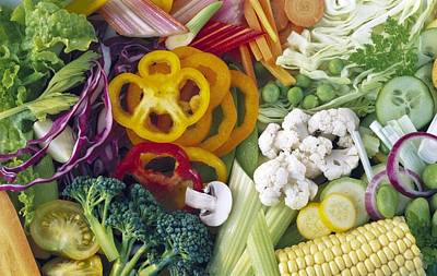 Assorted Vegetables Art Print by Science Photo Library
