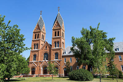 Assumption Photograph - Assumption Abbey In Richardton, North by Chuck Haney