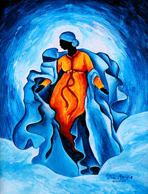 Haitian Painting - Assumption  Advocata Nostra by Patricia Brintle