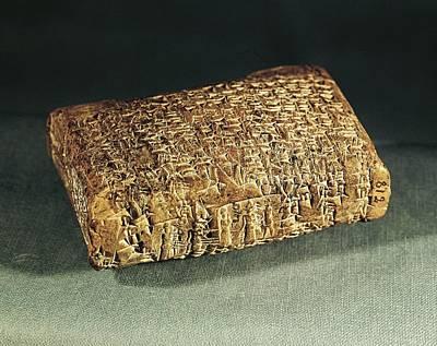 Ceramics Photograph - Assyrian-babylonian Tablet by Everett