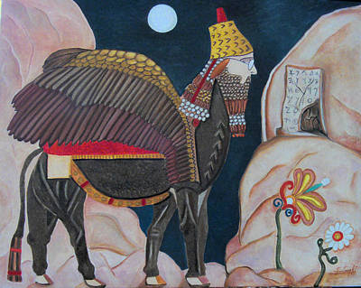 The Guardian Of Mesopotamia Original by Karen Serfinski