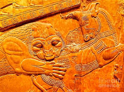 Assyrian Lion Art Print