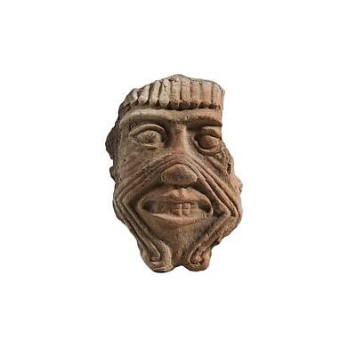 Ceramics Photograph - Assyrian Terracotta Mask Of Humbaba by Science Photo Library