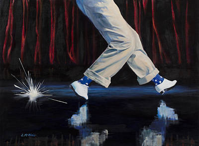 July 4th Painting - Astaire by Loretta McNair