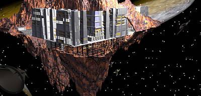 Mixed Media - Asteroid Habitat Beta 1 by Sarah McKoy