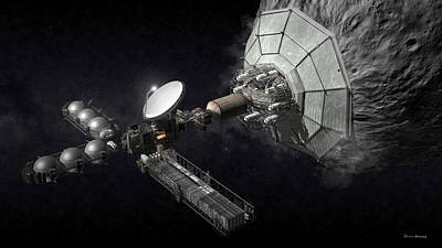 Digital Art - Asteroid Mining And Processing by Bryan Versteeg