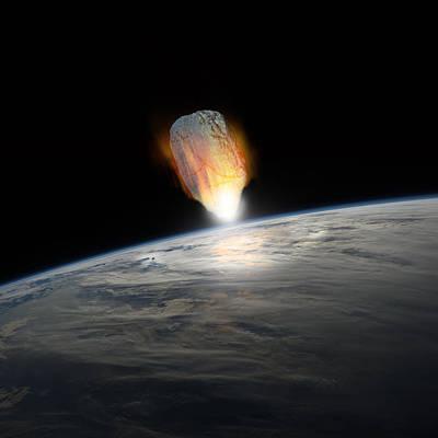 Copy Mixed Media - Asteroid Strike No.1  by Marc Ward
