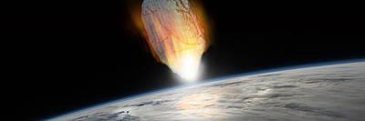 Copy Mixed Media - Asteroid Strike No.1pano  by Marc Ward