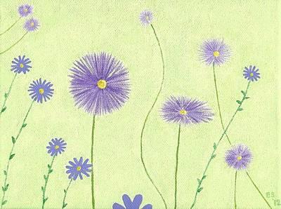 Asters Art Print by Elizabeth Sullivan