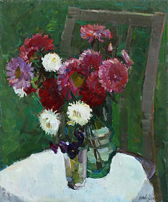 Painting - Asters In The First Frosts by Juliya Zhukova