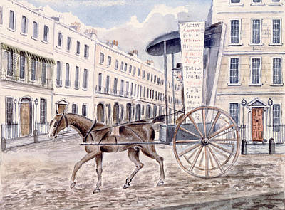 Horse And Cart Photograph - Astleys Advertising Cart Wc On Paper by Thomas Hosmer Shepherd