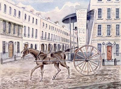 Astleys Advertising Cart Wc On Paper Art Print by Thomas Hosmer Shepherd