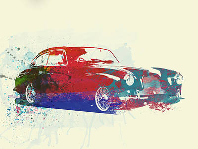 Automotive Digital Art - Aston Martin Db2 by Naxart Studio